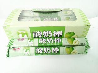 Cina 14g Green Apple Flavor Chewing Yogurt Sticks With Milk Flavor For Kids pabrik