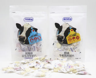 Blueberry Flavour Chewy Milk Candy In Bag Individual Packing HACCP