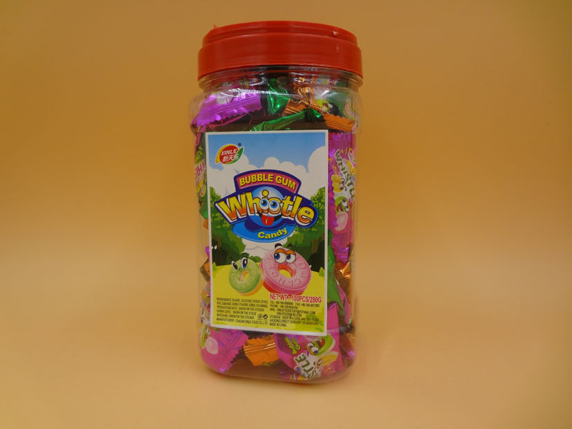 Assorted Fruity Square Candy With Whistle Popular Chewing Gum Bubble Gum