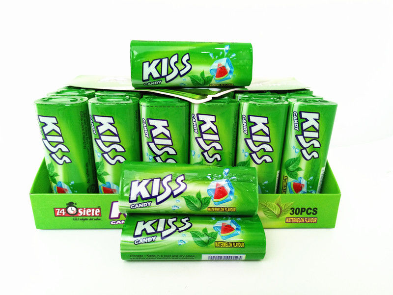 Energy Compressed Candy / Kiss Candy Watermelon And Mint Flavor